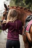 Equestrian Stockholm Purple Gold Hoody _