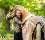 Equestrian Stockholm deken  Champagne_