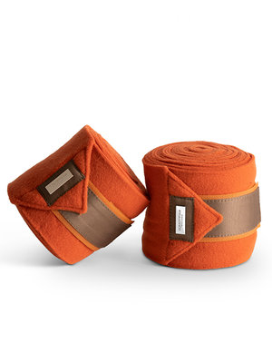 Equestrian Stockholm Bandages Brick Orange