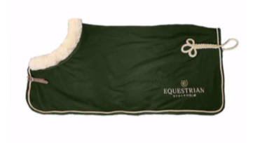 Equestrian Stockholm Fleece deken Forest Green