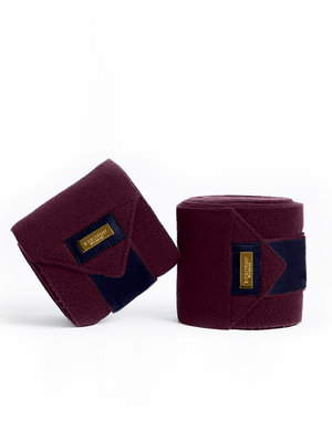 Equestrian Stockholm Purple Gold bandages