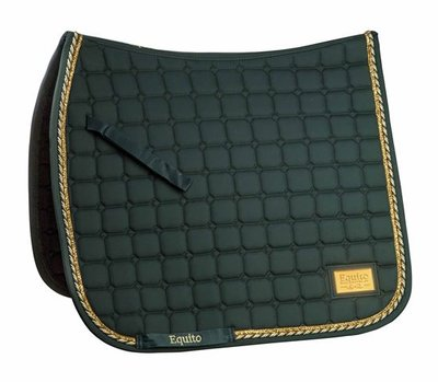 Equito zadelpad dressuur forest green gold
