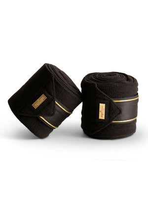 Equestrian Stockholm bandages Black Edition Gold