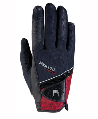 Roeckl Madrid micro mesh Black - red