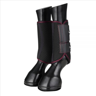 Le Mieux carbon Mesh wrap boots Black /Mulberry