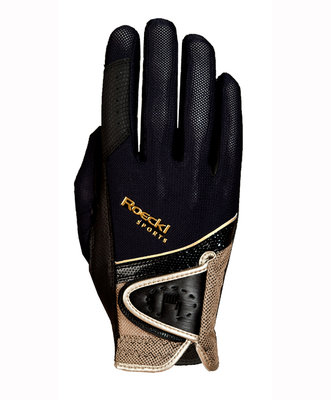 Roeckl Madrid micro mesh Black - Gold
