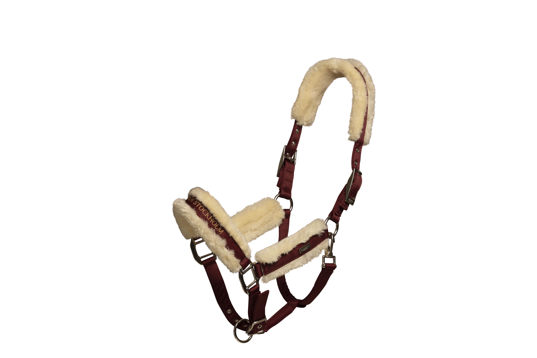 Equestrian Stockholm halster bordeaux met touw