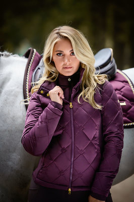 Ps of Sweden Gina jacket Wine met riem