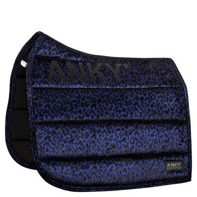 Anky zadelpad dressuur Leopard blue full
