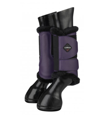 Le Mieux fleece lined brushing boots blackcurrant
