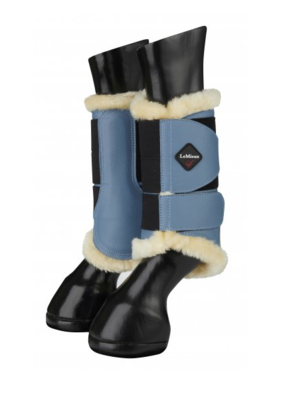 Le Mieux fleece lined brushing boots ice blue